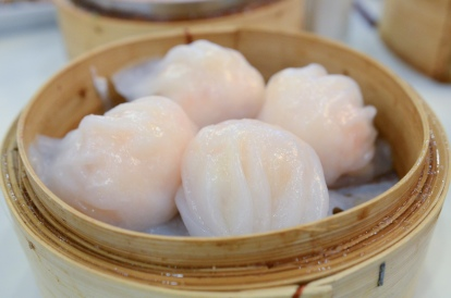 Notice how the dim sum reaches the very edge of the container.